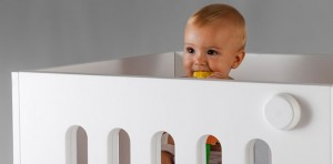 toddler in the Moodelli Baby Box