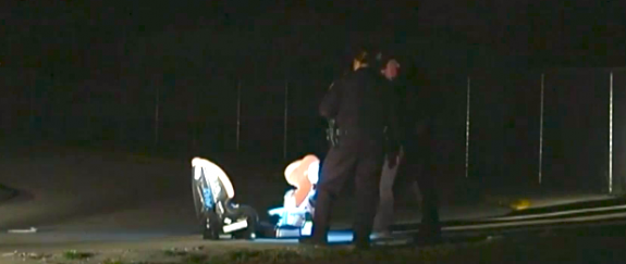 two kids abandoned in their car seats after a thief steals their moms car