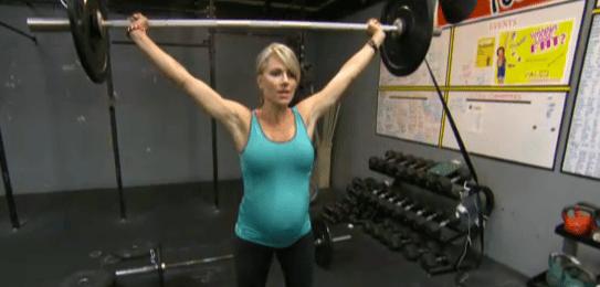 weightlifting pregnant mom Lea-Ann Ellison